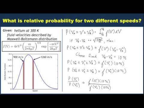 Example: Computing relative probabilities using the Maxwell-Boltzmann distribution