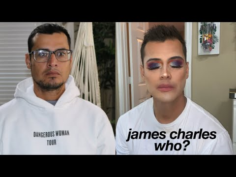 turning my dad into james charles thumbnail