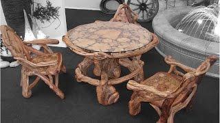 видео Мебель из дерева, садовая мебель
