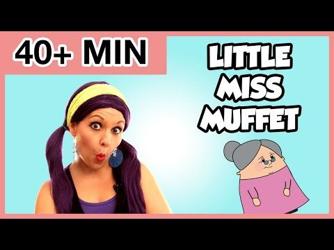 Little Miss Muffet | Plus More Nursery Rhymes for Kids | Tea Time with Tayla