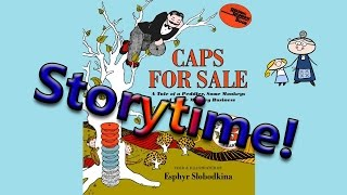 CAPS FOR SALE Read Along~ StoryTime ~  Bedtime Story Read Aloud Books