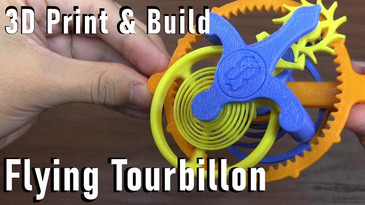 3D Print: Flying Tourbillon Model 1 5 on Thingiverse [by A26]