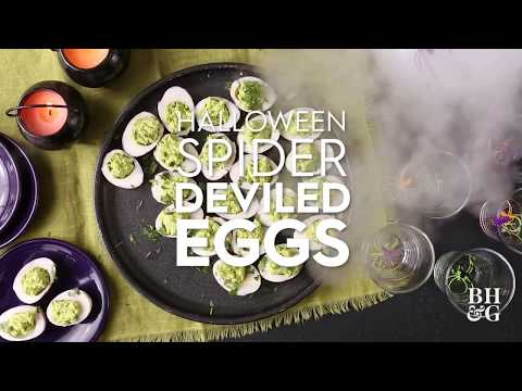 Halloween Spider Deviled Eggs | Fun With Food | Better Homes & Gardens