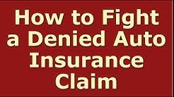 Car Insurance Claim Denied | Auto Insurance Claim Rejected
