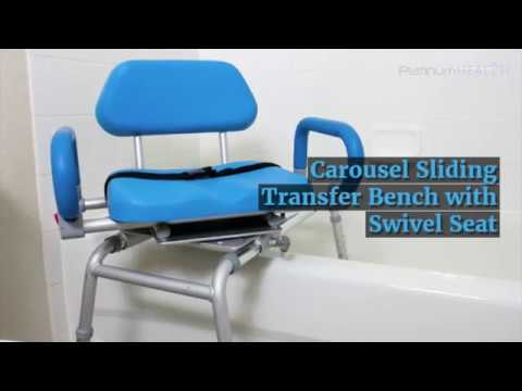 Carousel Premium Sliding Transfer Bench with Swivel Seat - YouTube