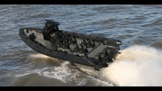 Military Commando RHIB Airdrop & Boarding at  high speed