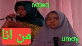Gambar cover Man Ana || cover by Najwa & Umay