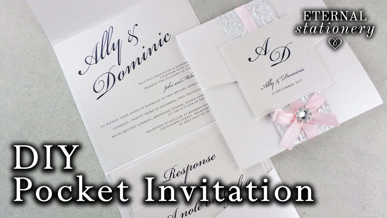 How to make a belly band pocket invitation | DIY wedding invitations ...