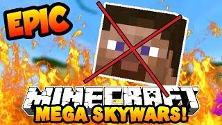 """Minecraft MEGA SKYWARS """"SUPER EPIC DEATH!"""" #2 with PrestonPlayz"""