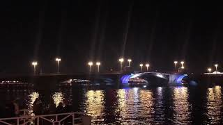 Питер/ Разведение мостов/ Дворцовый мост/
