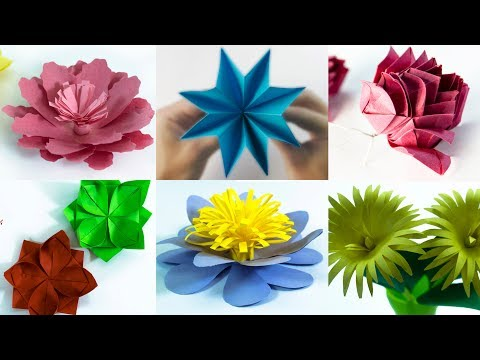 6 Beautiful Paper Flower - DIY Flower - Paper Craft