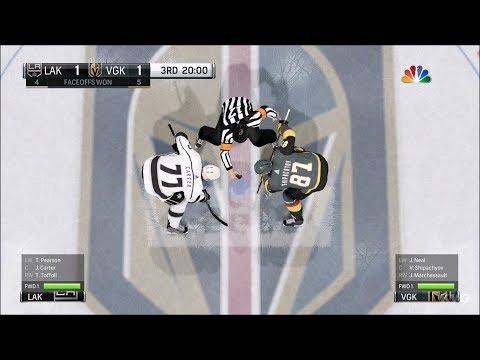 NHL 18 - Vegas Golden Knights vs Los Angeles Kings - Gameplay (HD) [1080p60FPS]