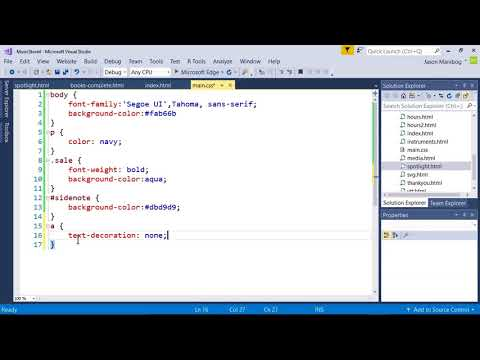 Applying Pseudo Classes - MTA Introduction To Programming Using HTML And CSS Tutorial