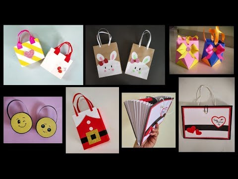 6 Quick and Easy Paper Bags | DIY | Art and Craft | Gift Bags