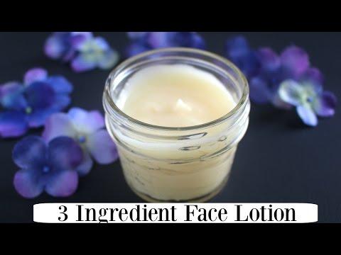 3 Ingredient 100% Natural Face Lotion - Easy & Nourishing