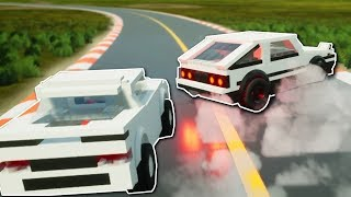 RALLY RACE & HIGH SPEED CRASHES! - Brick Rigs Multiplayer Gameplay Challenge