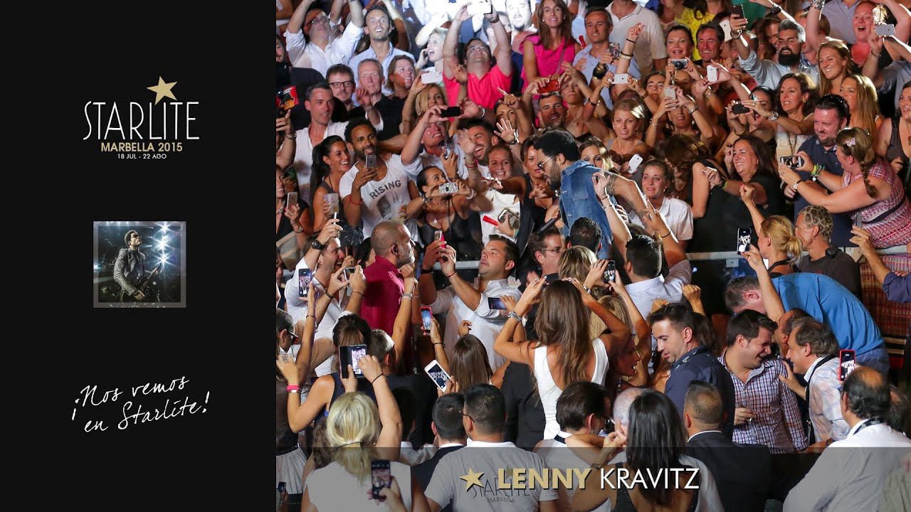 Resumen del concierto de Lenny Kravitz en Starlite Marbella 2015