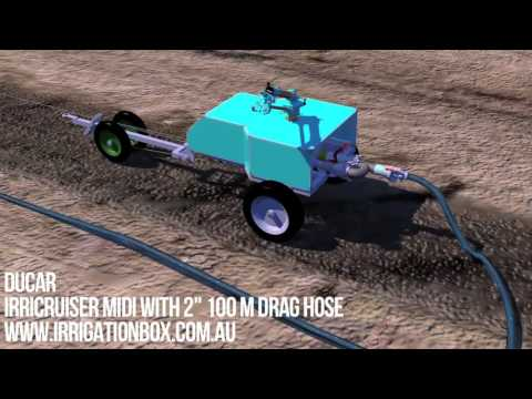 Travelling Irrigator - How It works (IrriCruiser MIDI Soft Hose) Buy online save $$$$