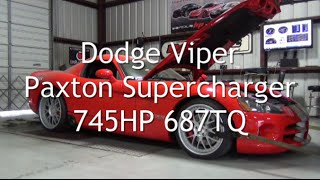 Dodge Viper Paxton Supercharger 745HP 687TQ