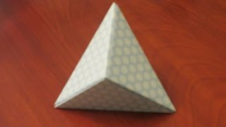 How to make an Origami Hexahedron