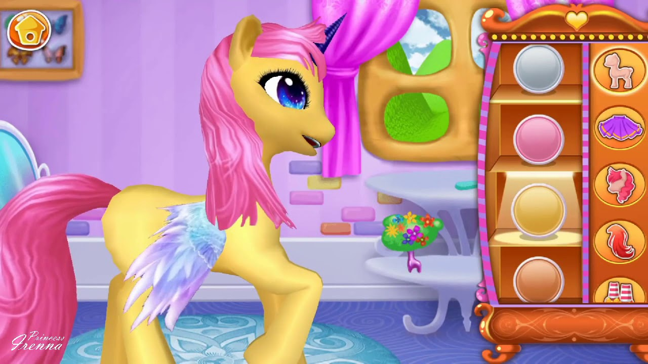 Kuda Poni Pony Dandan Lucu Imut Permainan Game Anak Perempuan Film Video Kartun Youtube