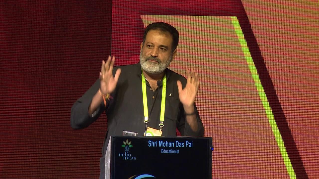 Mohan Das Pai at India Ideas Conclave 2016 - YouTube