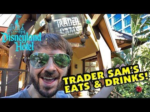 TRADER SAM'S Enchanted Tiki Bar at Disneyland Hotel! Amazing Eats & Drinks!