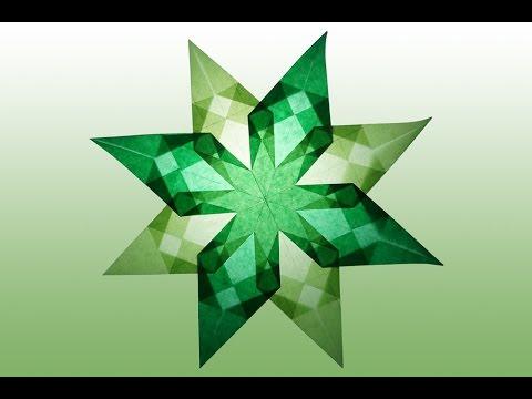 8 Zackiger Grüner Stern Aus Transparentpapier Selber Basteln Youtube