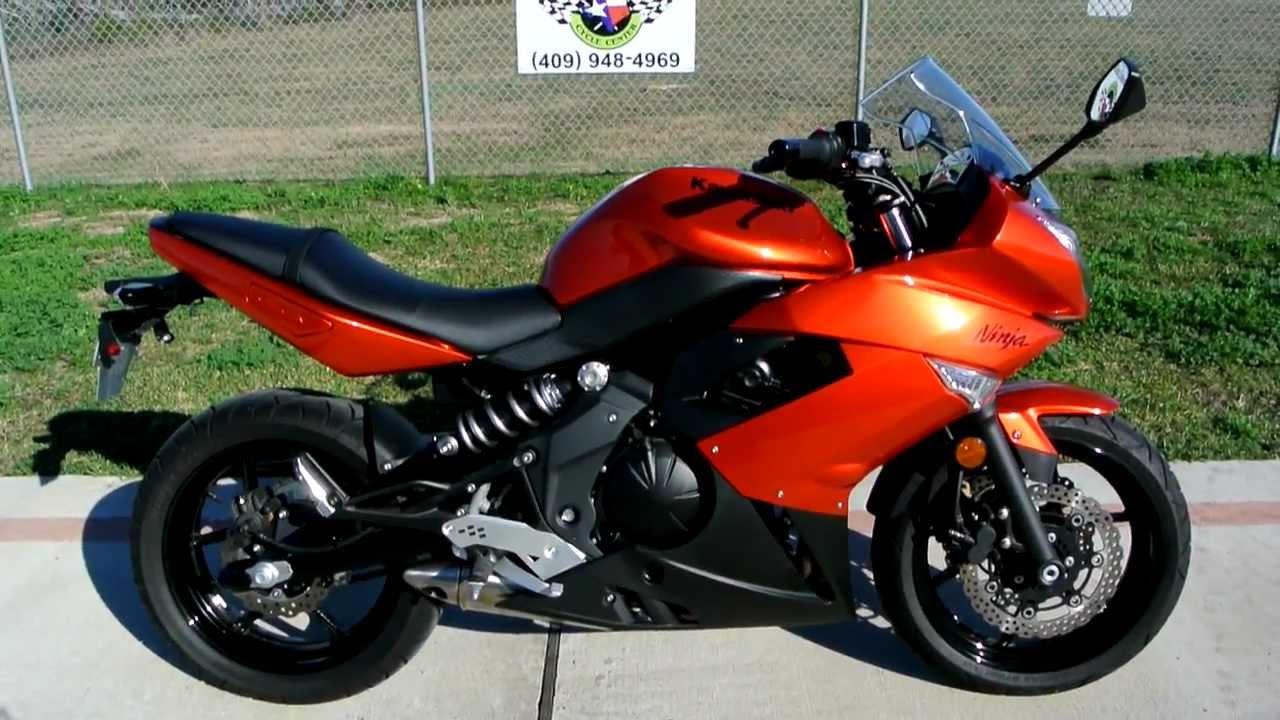 2011 Kawasaki Ninja 650R Candy Burnt Orange - YouTube