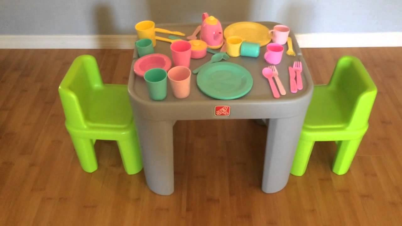 Step2 Mighty My Size Table & Chairs Set Video Review - YouTube