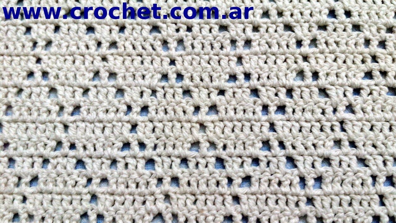 Punto fantasia N° 64 en tejido crochet tutorial paso a paso. - YouTube
