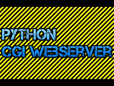 Server Side Script Setup - CGI Webserver with Python - Linux
