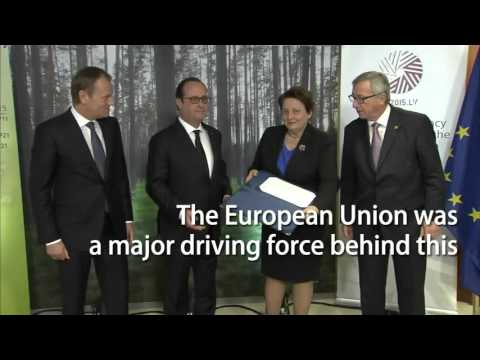 EU signs the Paris Agreement on climate