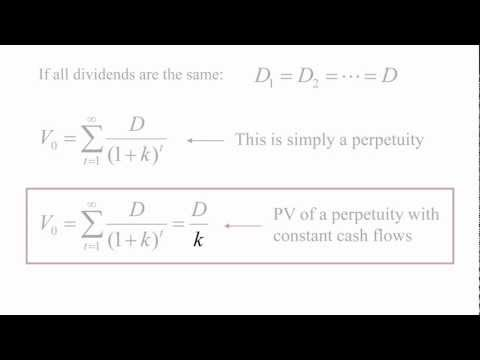 Stock Valuation Theory - Dividend Discount Model (Part 1 of 2)