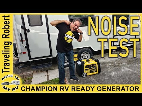 Champion Generator Noise Test – New genny for our travel trailer