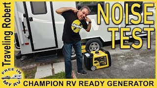 Champion Generator Noise Test - New genny for our travel trailer