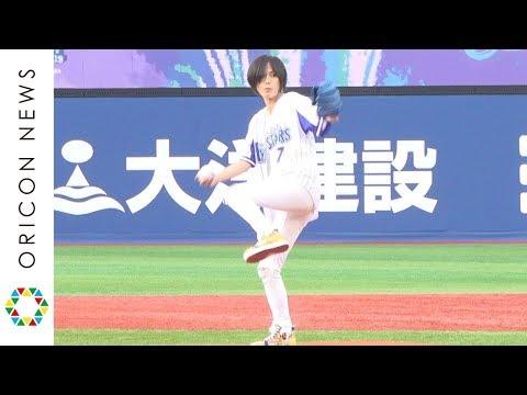 相川七瀬、初の始球式はノーバンならずも笑顔「次もし機会があったら、真ん中に」 『BLUE☆LIGHT SERIES 2019 Supported by nojima』セレモニアルピッチ