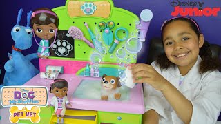 NEW Doc McStuffins Veterinarian Clinic - Pet Vet Puppy Findo Bubble Bath | Disney  Jr Toys