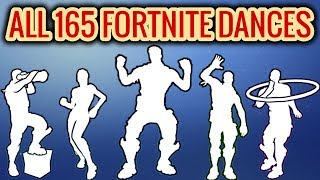 ALL 165 Fortnite Dances/Emotes [Season 1 to 8]