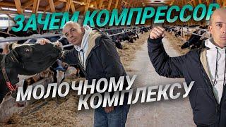 ЗАПУСК ВИНТОВОГО КОМПРЕССОРА / Винтовой компрессор на молочном комплексе / ВОЗДУХ ДЛЯ РОБОТОВ