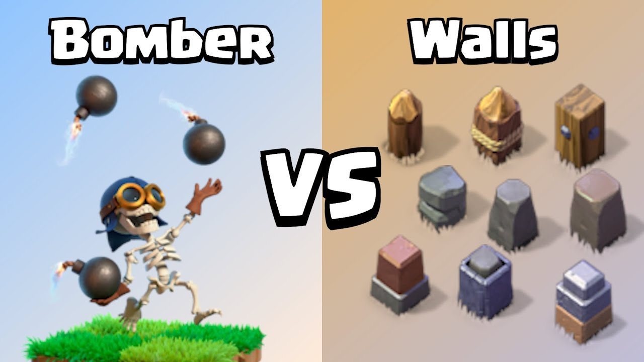 Every Level Bomber VS Every Level Wall | Clash of Clans