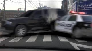 大阪府池田市石橋阪大下交差点にて交通事故発生