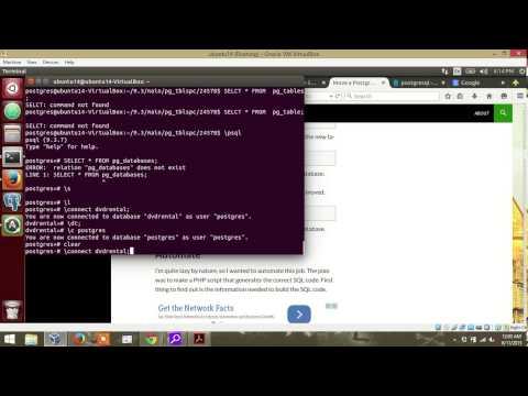 POSTGRESQL: Connect to database