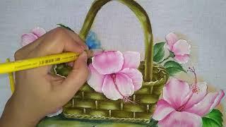 Veja Como Pintar Este Lindo Hibisco