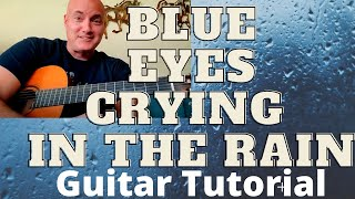 Blue Eyes Crying in the Rain by Willie Nelson Guitar Tutorial and Lesson