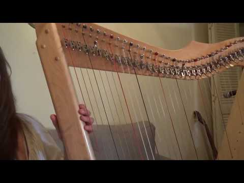 online harp course: Materials to get started playing the harp