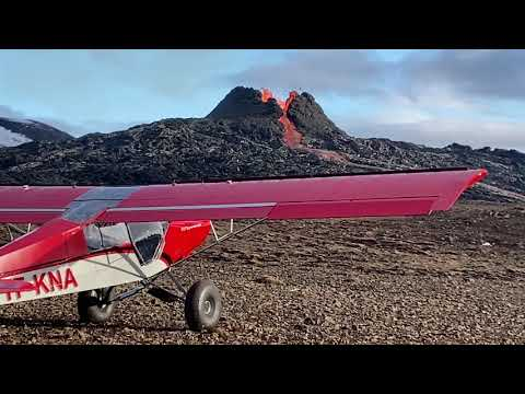 Airplane Landing at Active Volcano! - Extreme Aviation Iceland