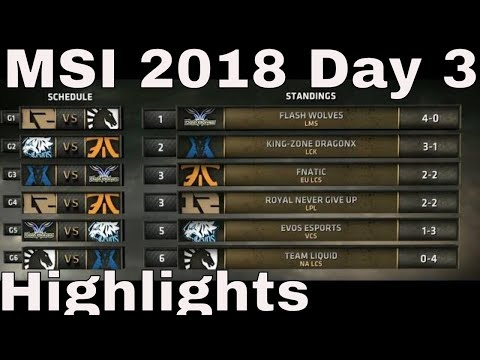 MSI 2018 Highlights Day 3 ALL GAMES | Mid Season Invitationa