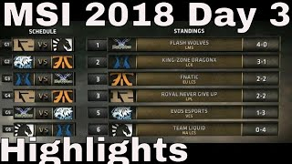 MSI 2018 Highlights Day 3 ALL GAMES | Mid Season Invitational 2018 Group Stage Highlights