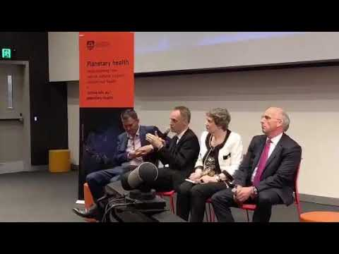 Q & A session at the #PlanetaryHealth launch